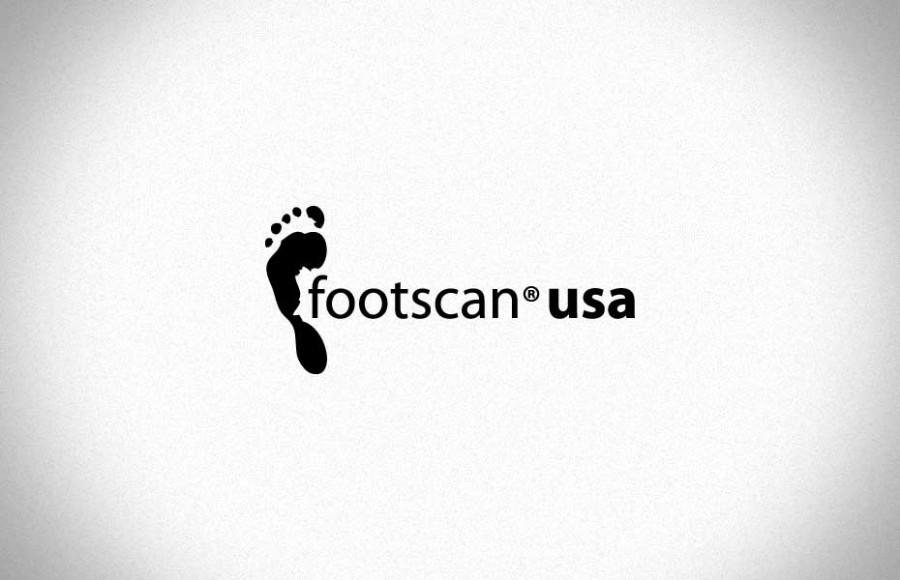 Footscan USA White Black Logo