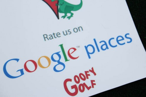 Goofy Golf Google Places