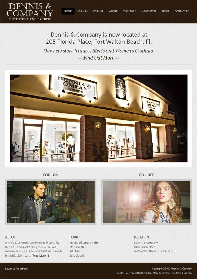 Dennis-&-Company-Clothing-Homepage