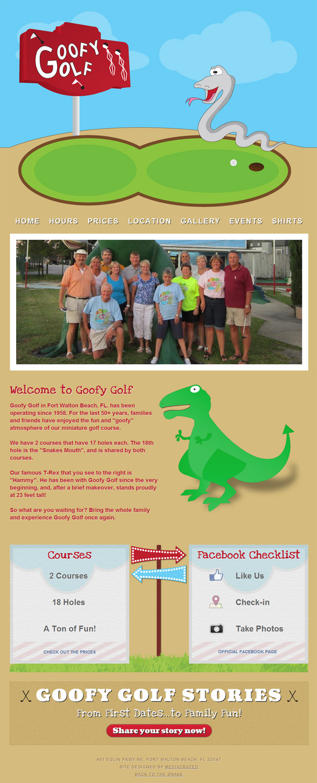 Goofy Golf Homepage