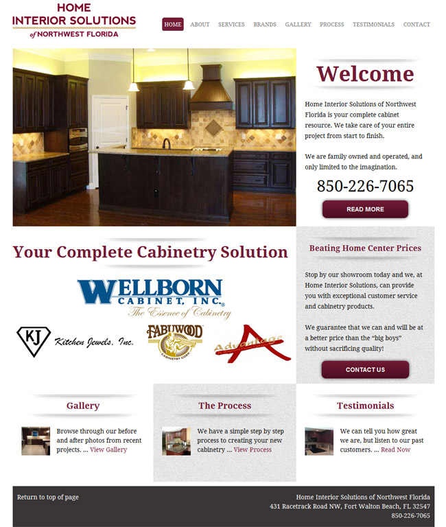 Cabinet Website Design