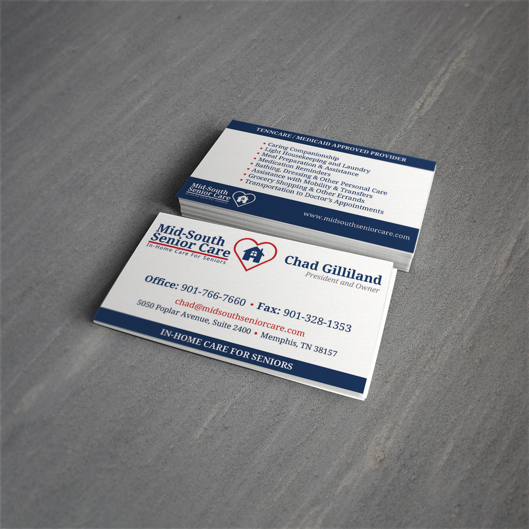 Mid-South Senior Care Business Cards - MediaCrazed