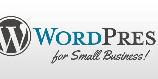 WordPress Powered Website Small Business